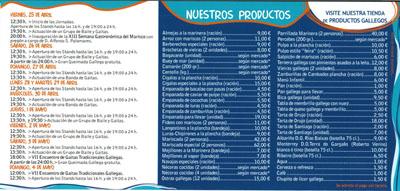 listado precios feria del marisco alcobendas 2008