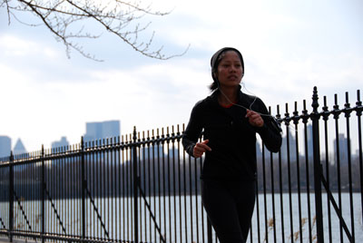 running by the fence central park