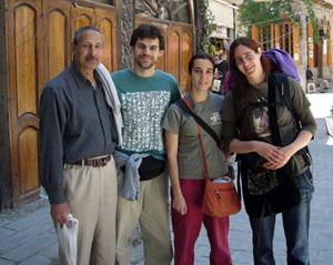 Con Nadia y su tï en el Zoco Saroujah