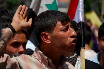 concentracion a favor de pueblo palestino