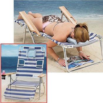 hamaca para leer en la playa