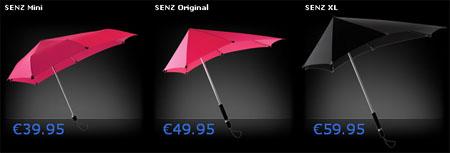 paraguas senz umbrella sizes
