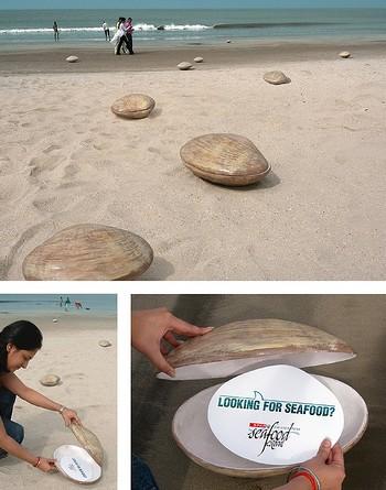 publicidad creativa restaurante playa marisco