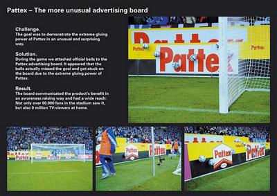 publicidad callejera con pegada pattex s