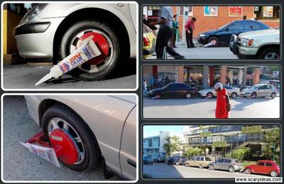 publicidad callejera con pegada super glue s