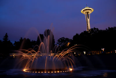 seattle space needle y fuente s