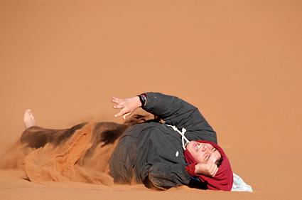 Rolling down the dune Boy DSC_9369 s